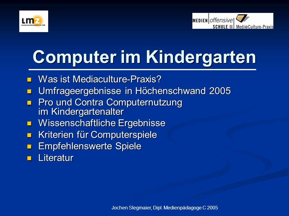 Computer im Kindergarten