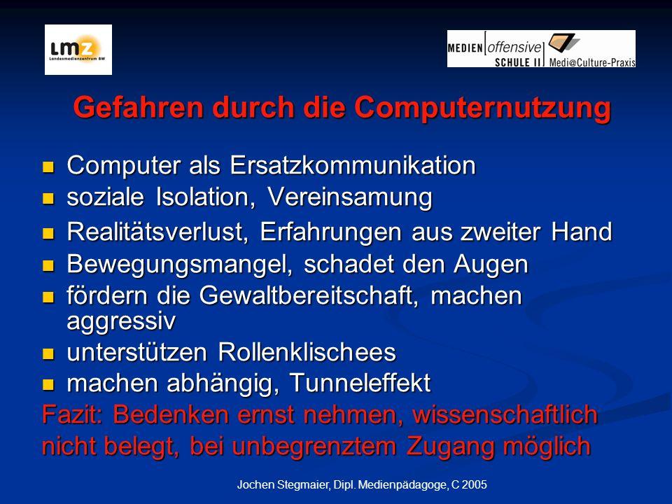 Gefahren durch die Computernutzung