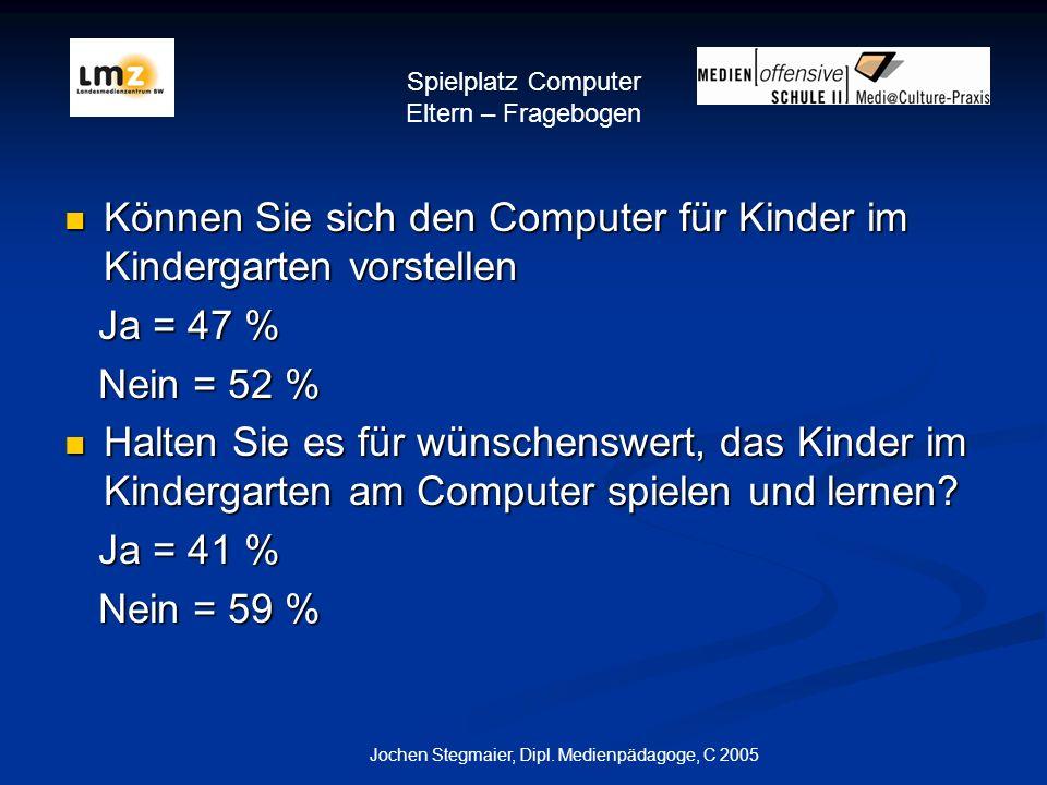 Spielplatz Computer Eltern – Fragebogen