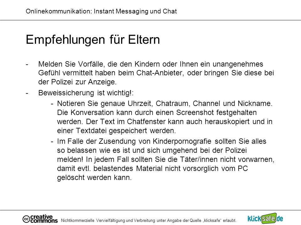 Onlinekommunikation: Instant Messaging und Chat