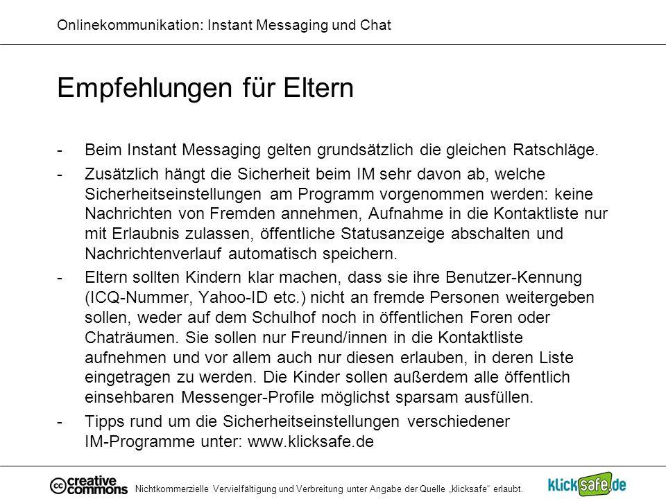 Onlinekommunikation: Instant Messaging und Chat