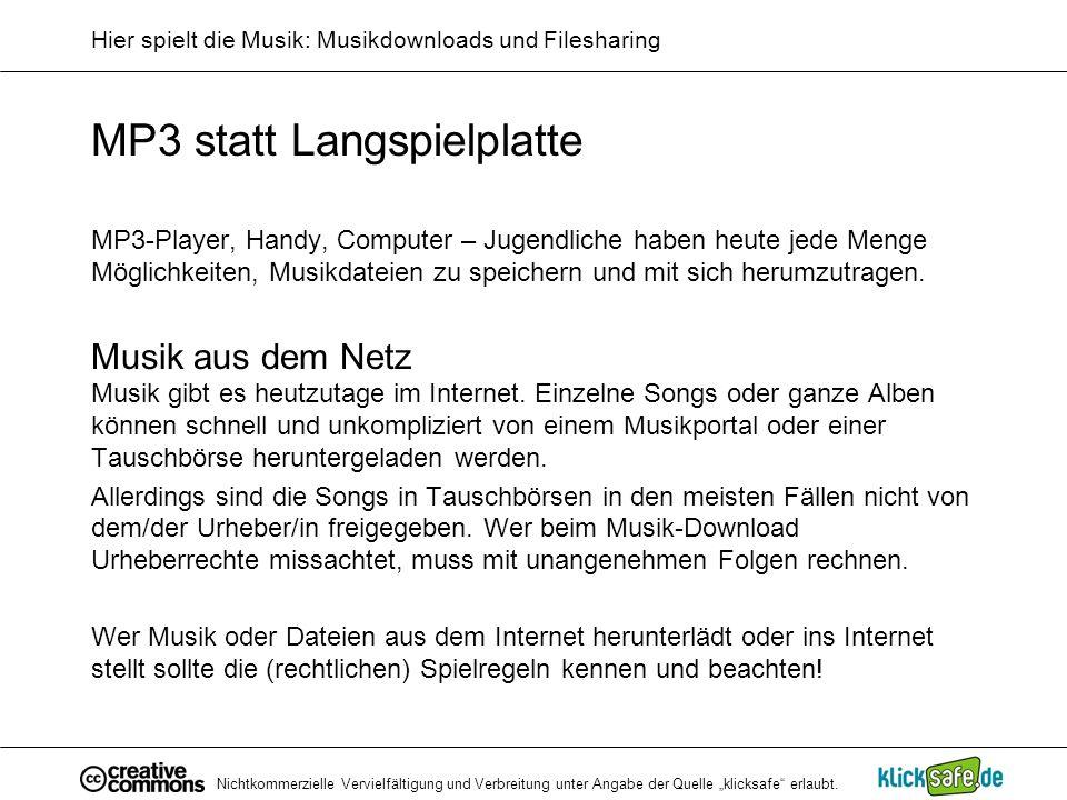 Hier spielt die Musik: Musikdownloads und Filesharing