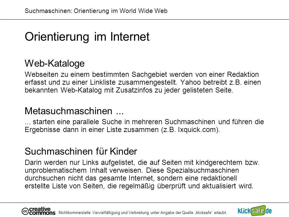 Suchmaschinen: Orientierung im World Wide Web