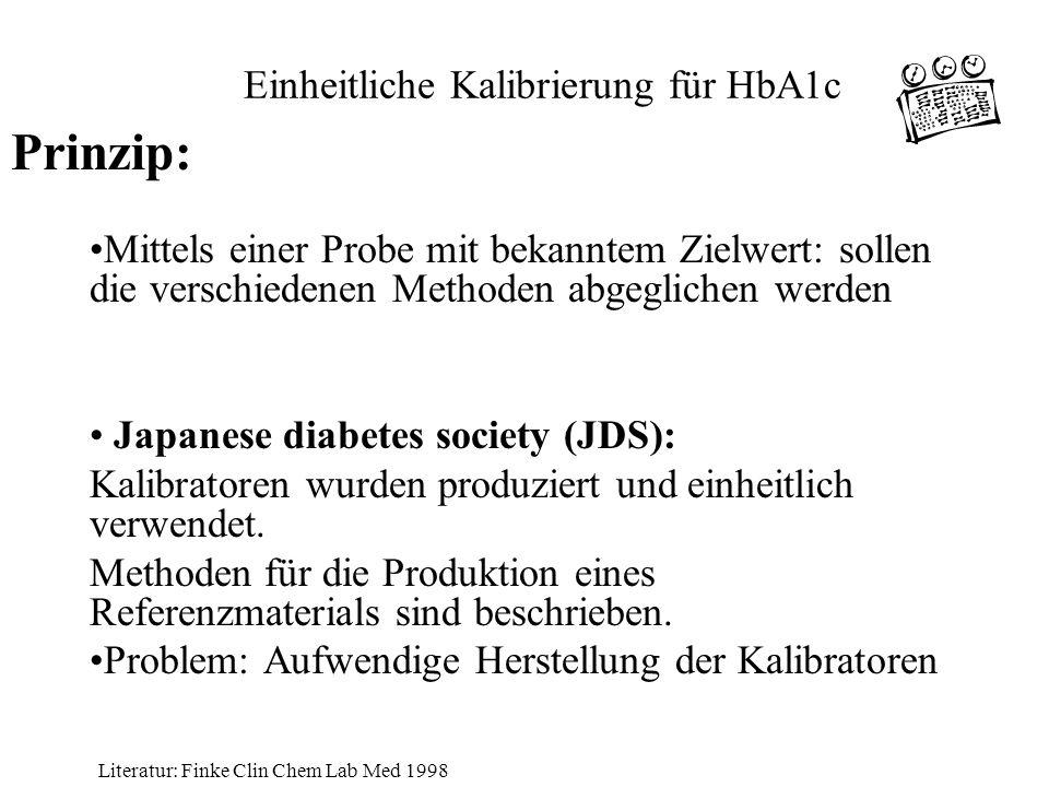 Einheitliche Kalibrierung für HbA1c
