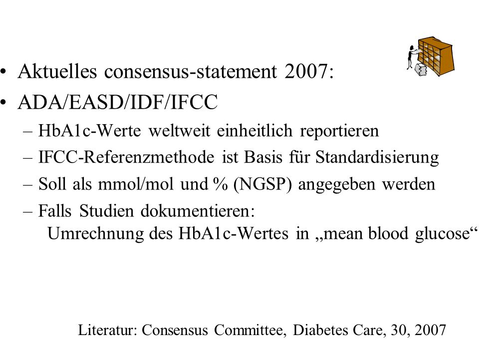Literatur: Consensus Committee, Diabetes Care, 30, 2007