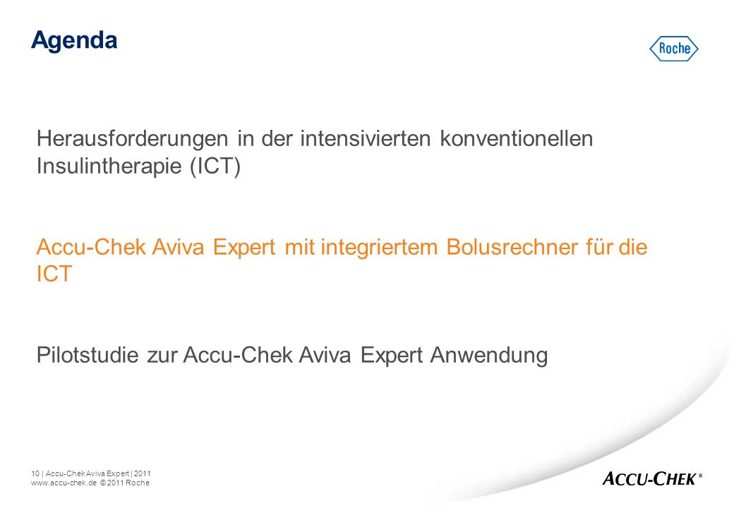 Agenda Herausforderungen in der intensivierten konventionellen Insulintherapie (ICT)