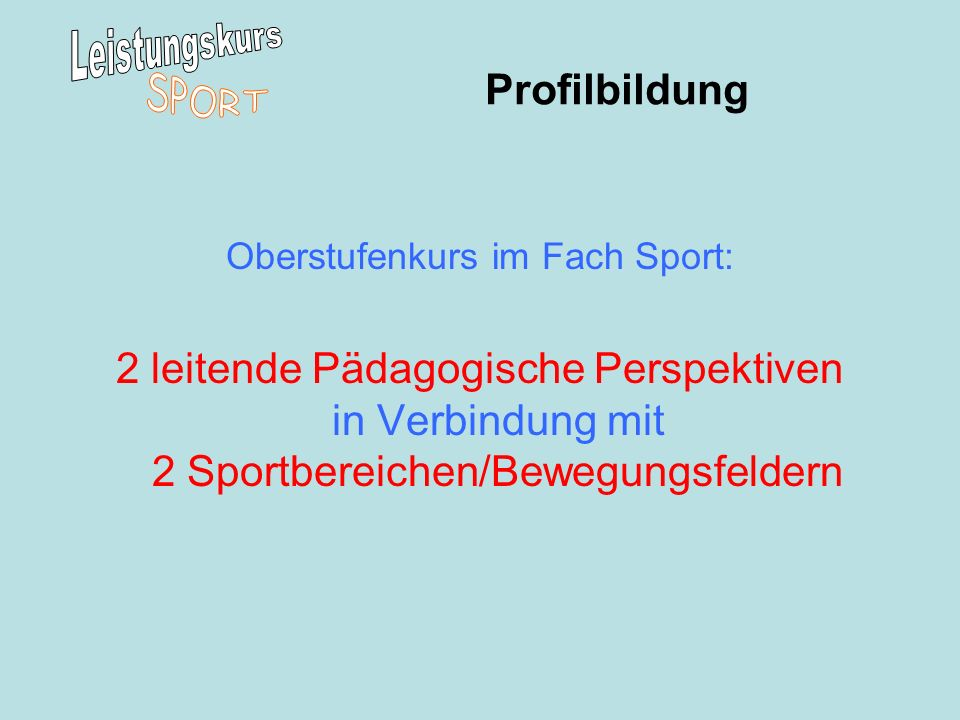 Oberstufenkurs im Fach Sport: