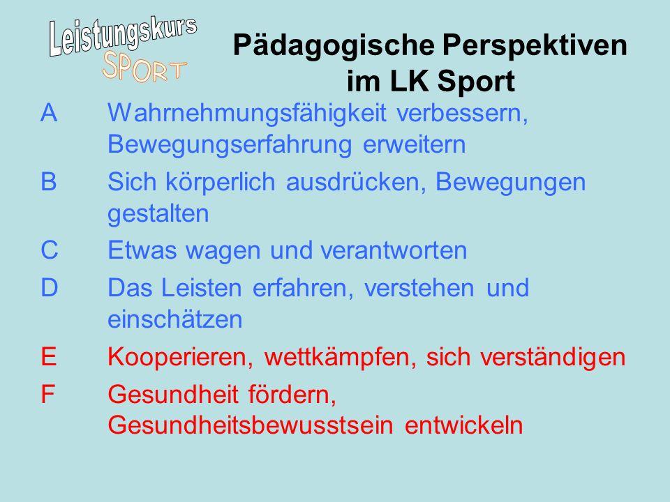 Pädagogische Perspektiven im LK Sport