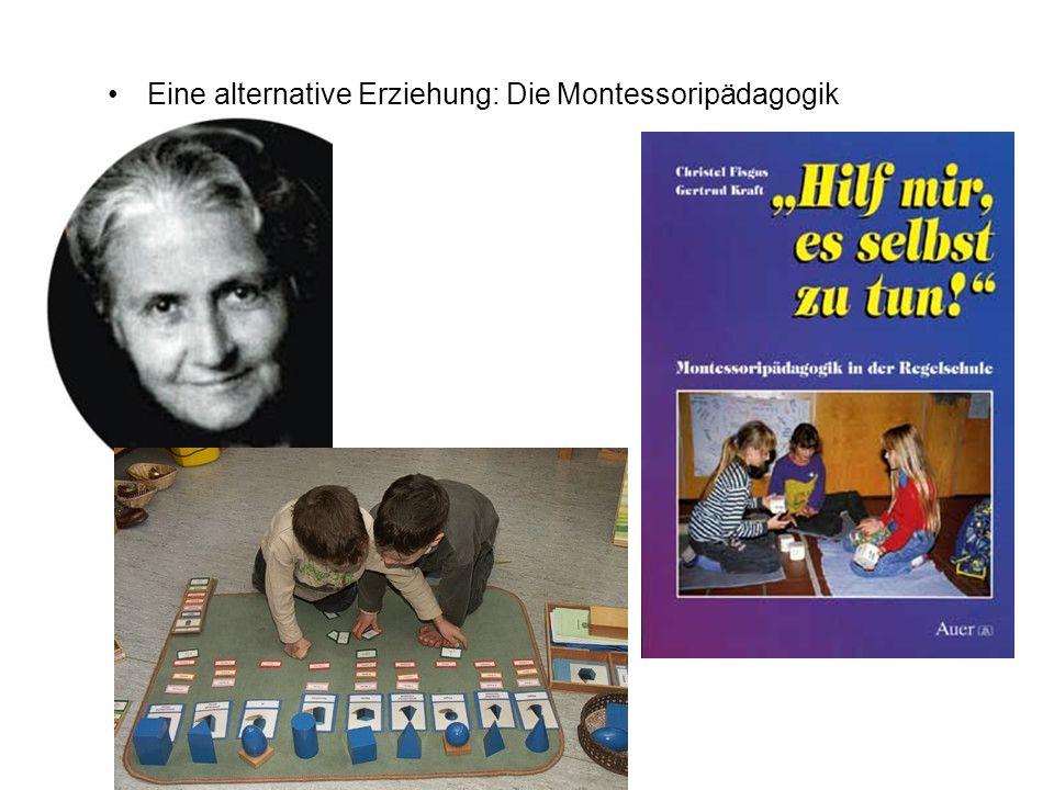 Eine alternative Erziehung: Die Montessoripädagogik