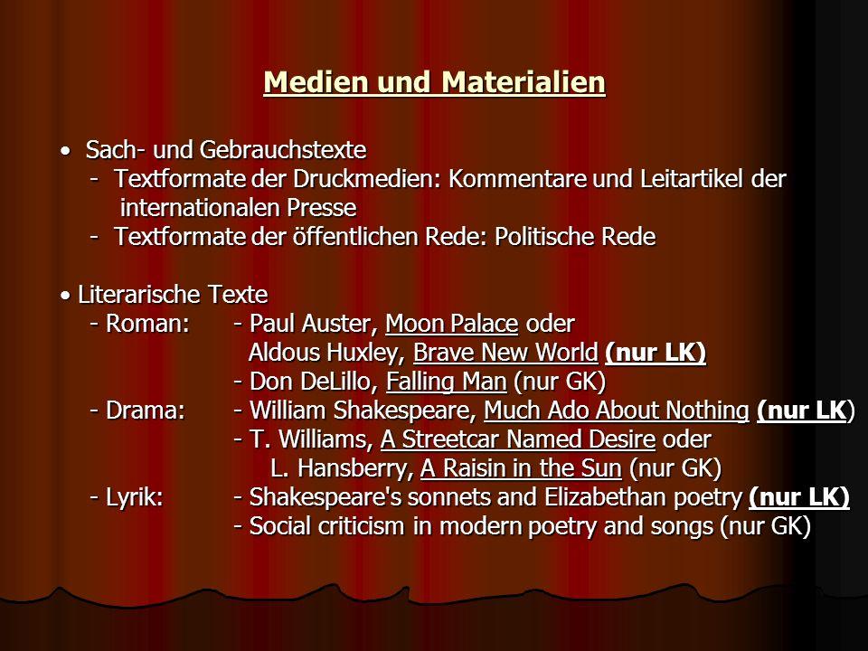 Medien und Materialien