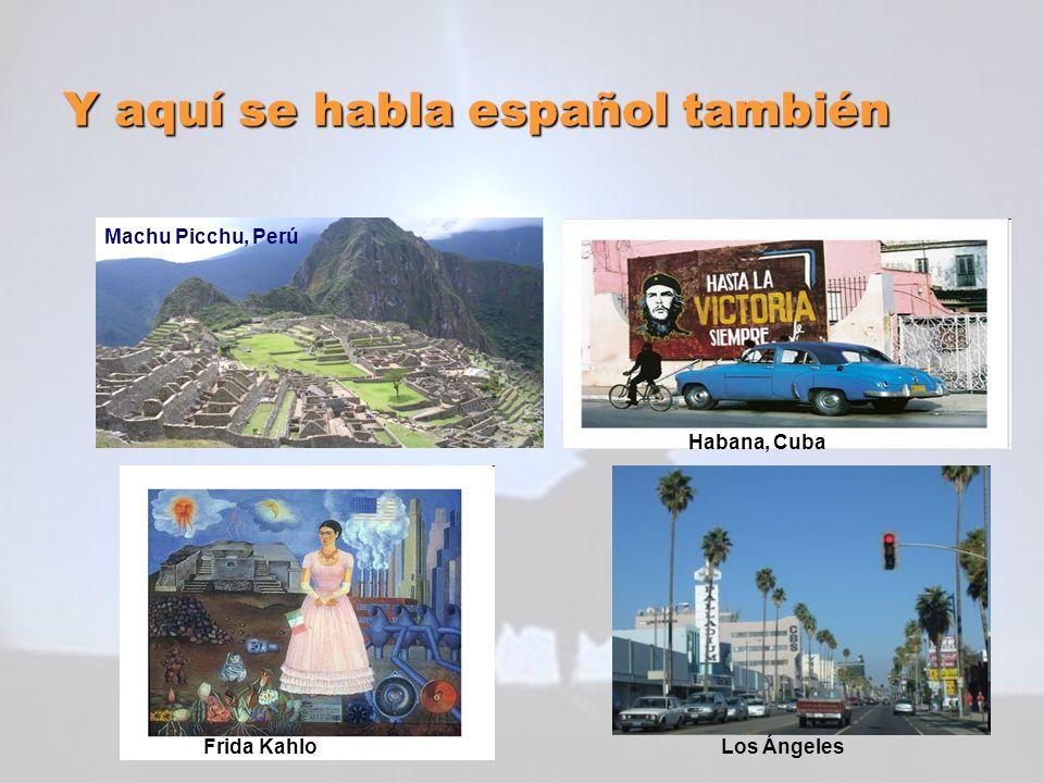 Y aquí se habla español también