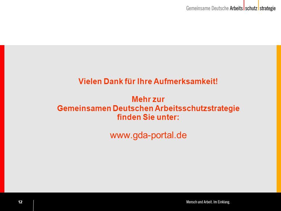 www.gda-portal.de Vielen Dank für Ihre Aufmerksamkeit! Mehr zur