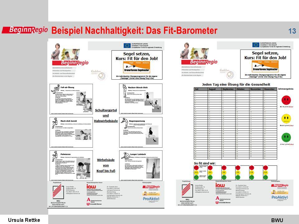 Beispiel Nachhaltigkeit: Das Fit-Barometer