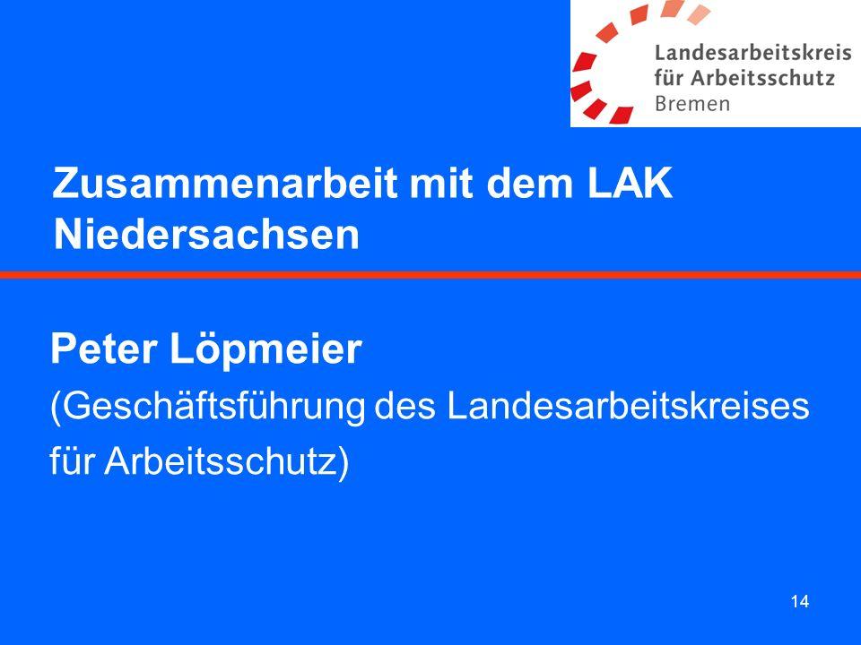 Zusammenarbeit mit dem LAK Niedersachsen