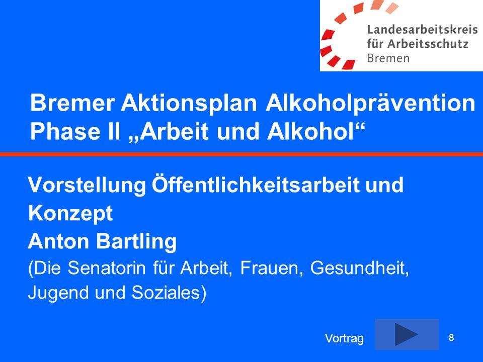 """Bremer Aktionsplan Alkoholprävention Phase II """"Arbeit und Alkohol"""
