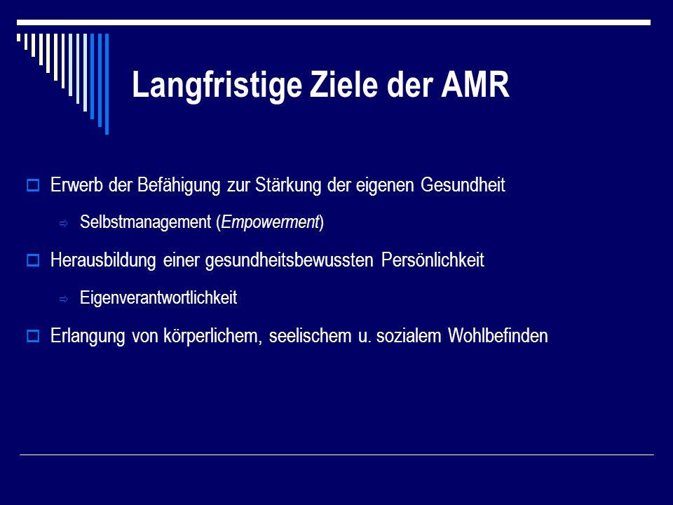 Langfristige Ziele der AMR
