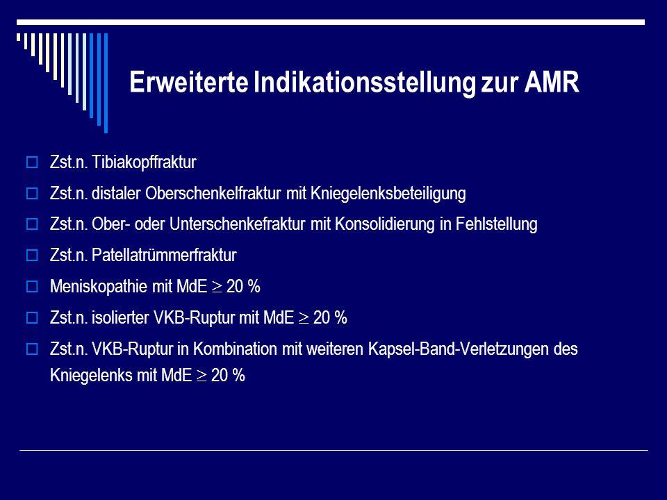 Erweiterte Indikationsstellung zur AMR