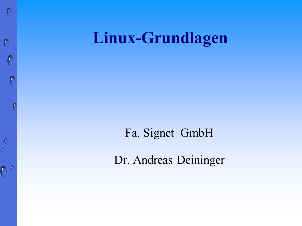 Fa. Signet GmbH Dr. Andreas Deininger