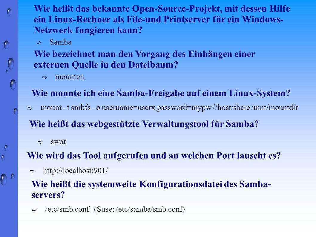 Wie mounte ich eine Samba-Freigabe auf einem Linux-System
