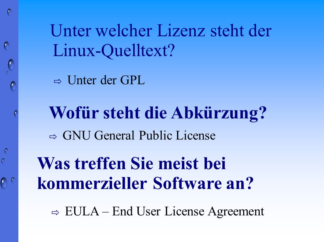 Unter welcher Lizenz steht der Linux-Quelltext