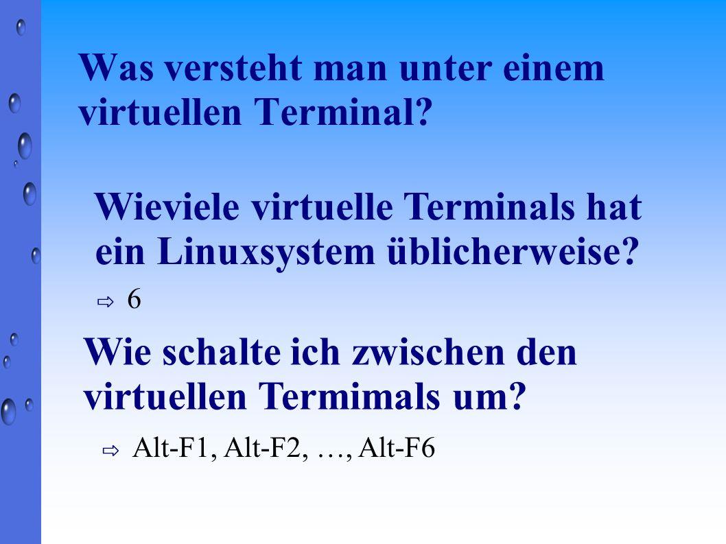 Was versteht man unter einem virtuellen Terminal