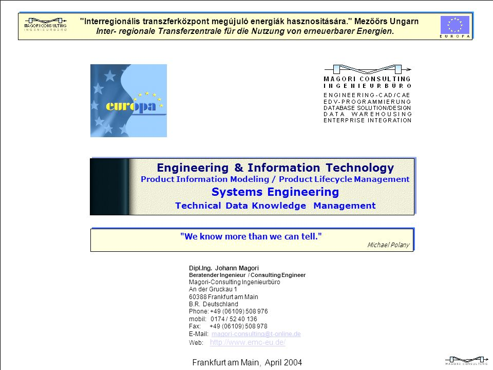 Engineering & Information Technology Systems Engineering