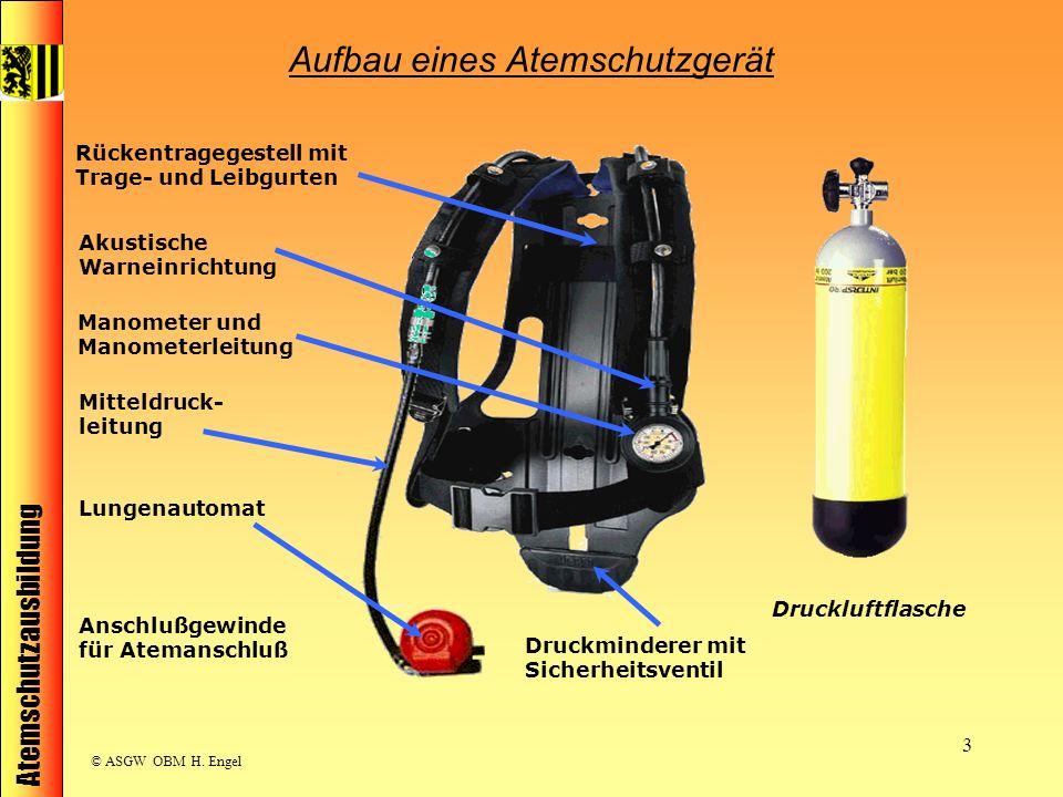 Aufbau eines Atemschutzgerät