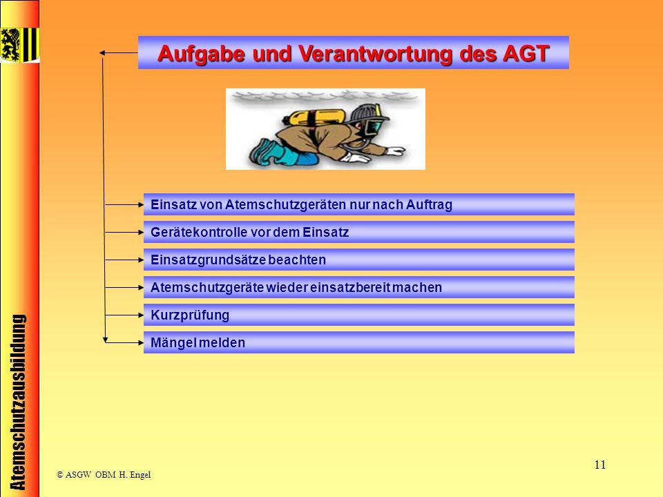 Aufgabe und Verantwortung des AGT