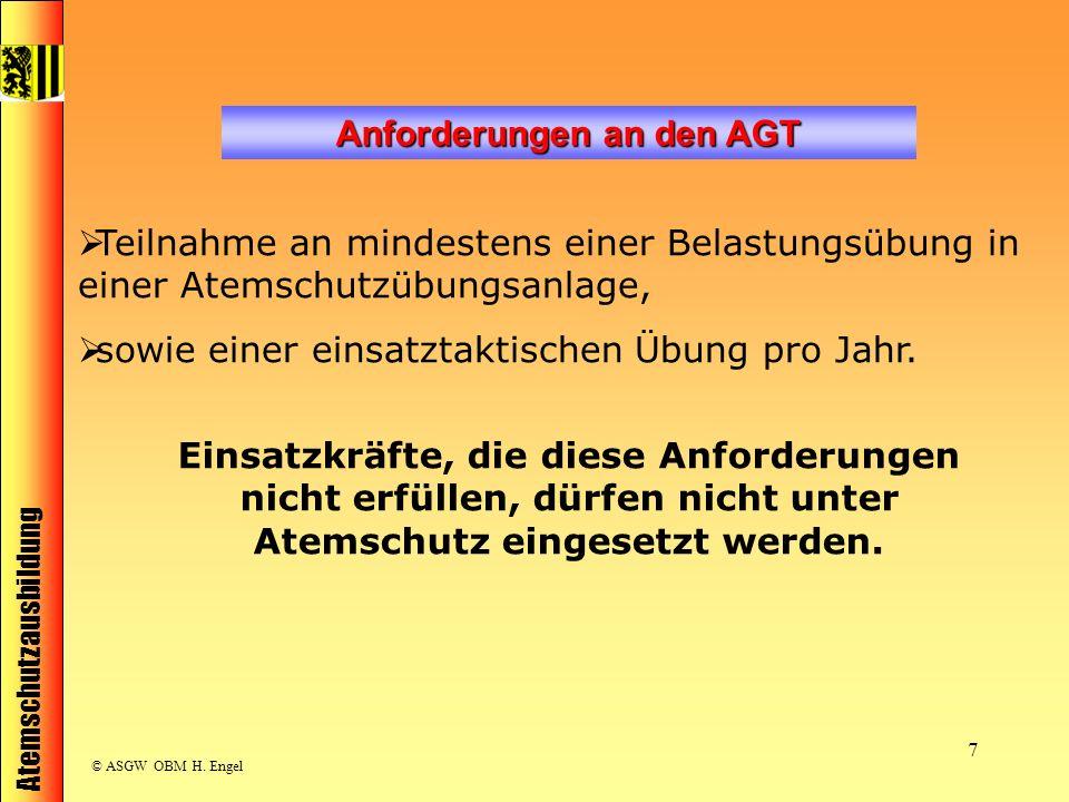 Anforderungen an den AGT