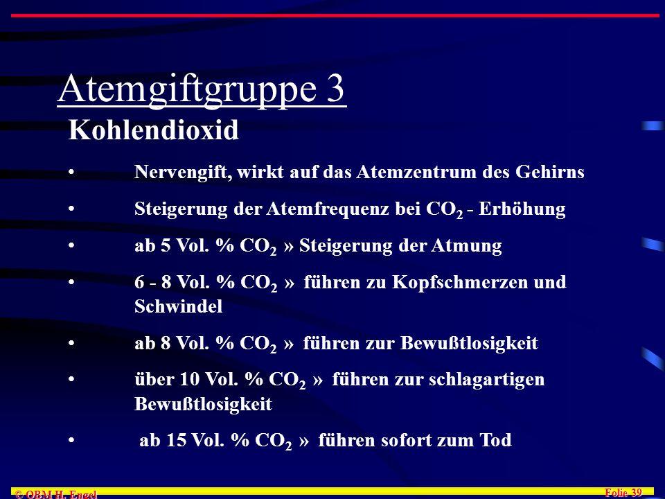 Atemgiftgruppe 3 Kohlendioxid