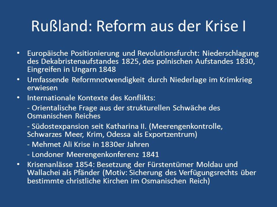 Rußland: Reform aus der Krise I