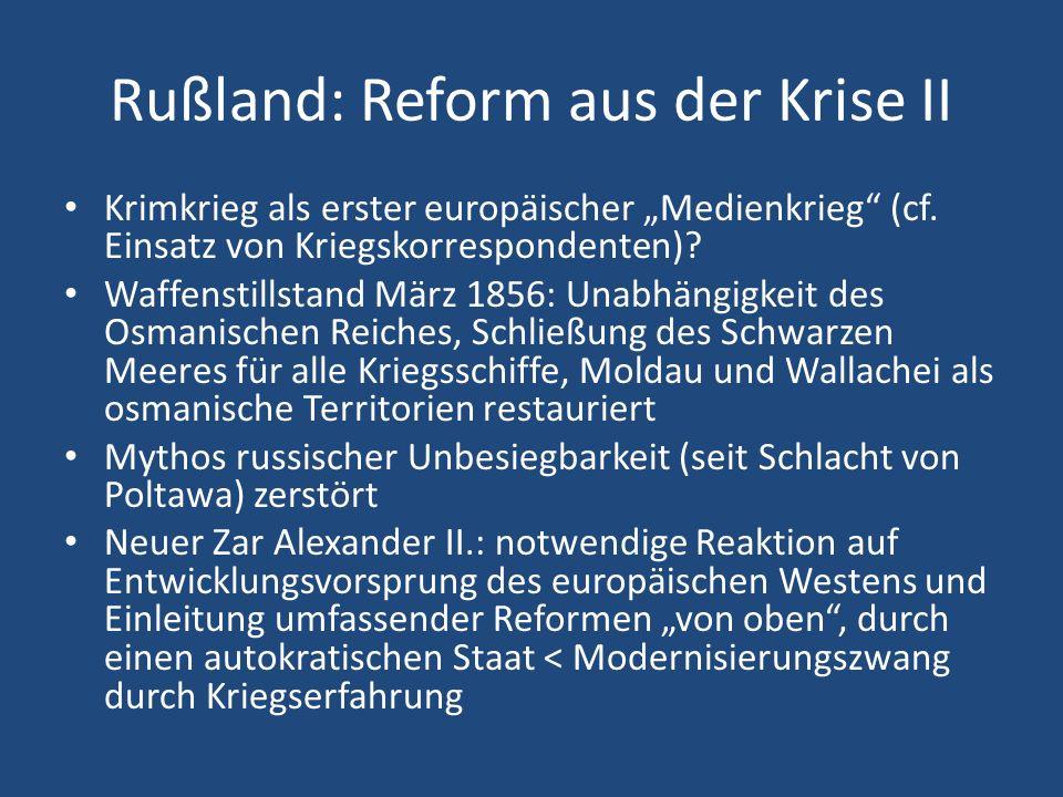 Rußland: Reform aus der Krise II