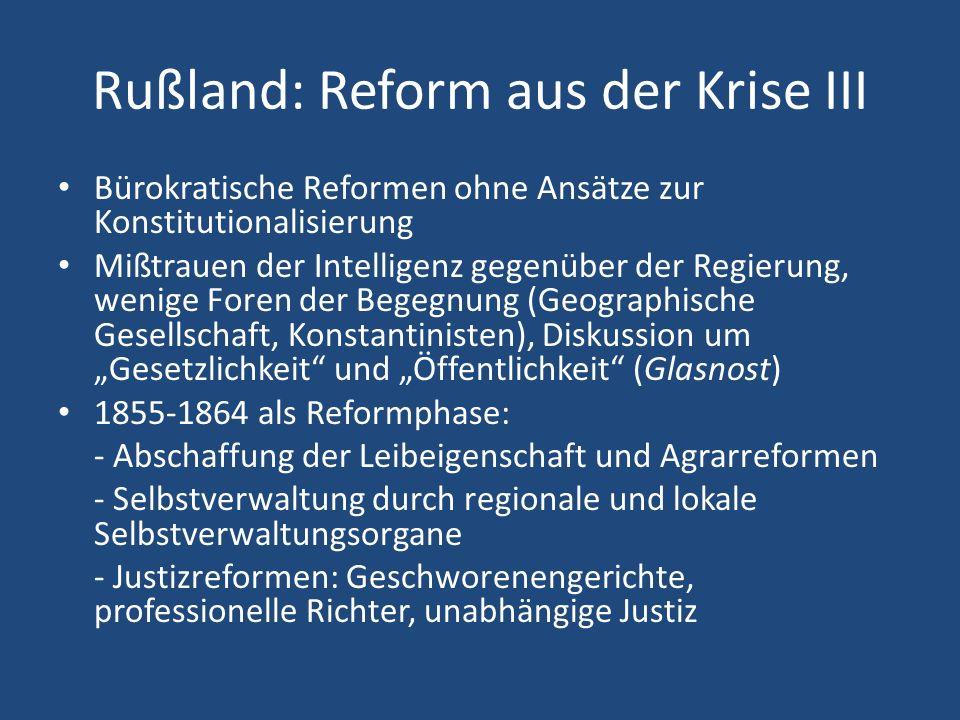 Rußland: Reform aus der Krise III