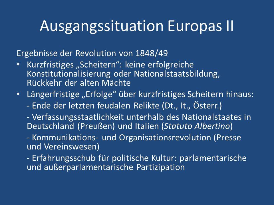 Ausgangssituation Europas II