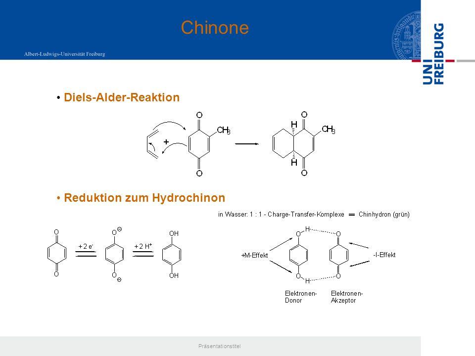 Chinone Diels-Alder-Reaktion Reduktion zum Hydrochinon