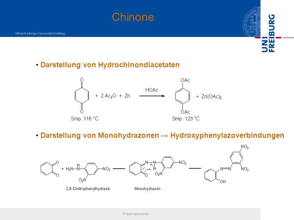 Chinone Darstellung von Hydrochinondiacetaten