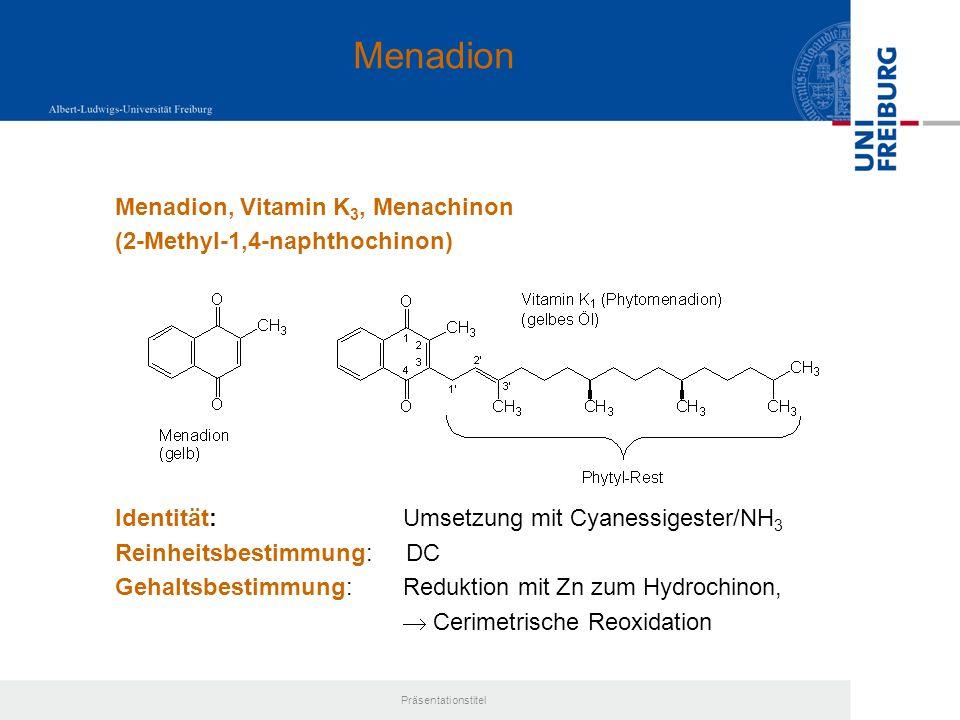 Menadion Menadion, Vitamin K3, Menachinon (2-Methyl-1,4-naphthochinon)