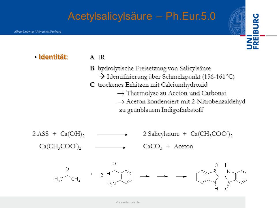 Acetylsalicylsäure – Ph.Eur.5.0