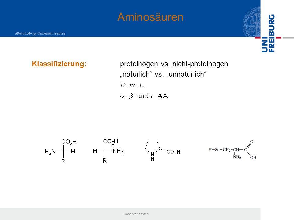 Aminosäuren Klassifizierung: proteinogen vs. nicht-proteinogen