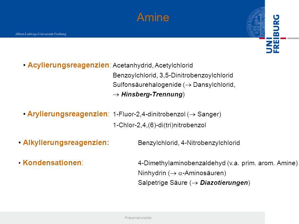 Amine Acylierungsreagenzien: Acetanhydrid, Acetylchlorid