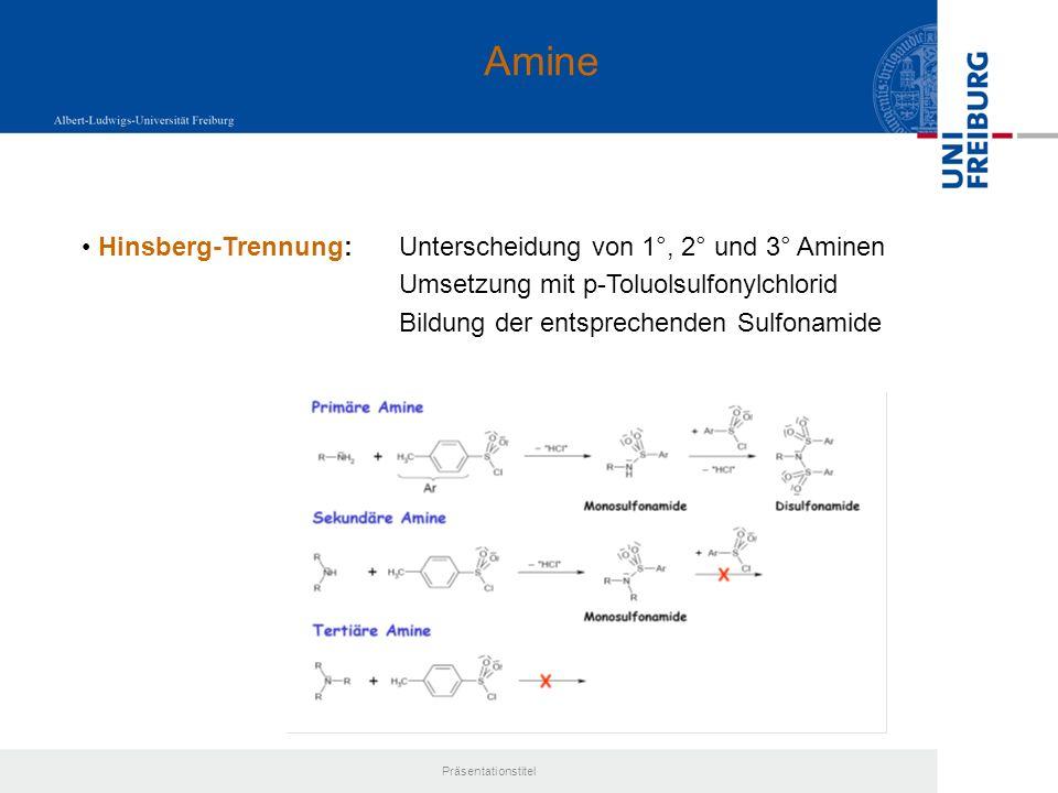 Amine Hinsberg-Trennung: Unterscheidung von 1°, 2° und 3° Aminen
