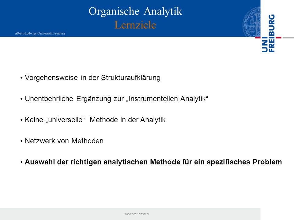 Organische Analytik Lernziele