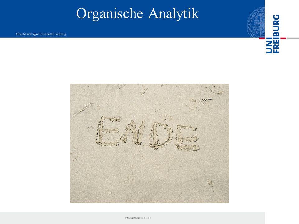 Organische Analytik Präsentationstitel