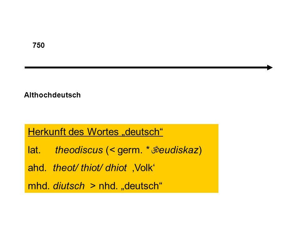 """Herkunft des Wortes """"deutsch lat. theodiscus (< germ. *eudiskaz)"""