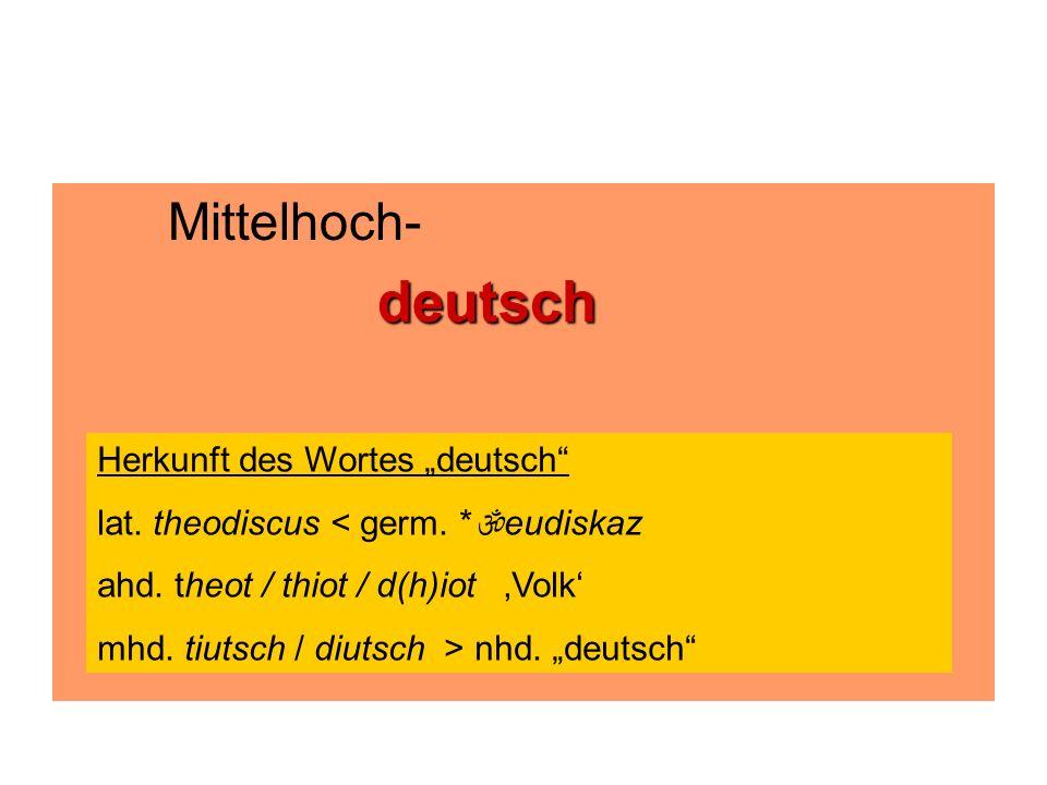"""Mittelhoch- deutsch Herkunft des Wortes """"deutsch"""