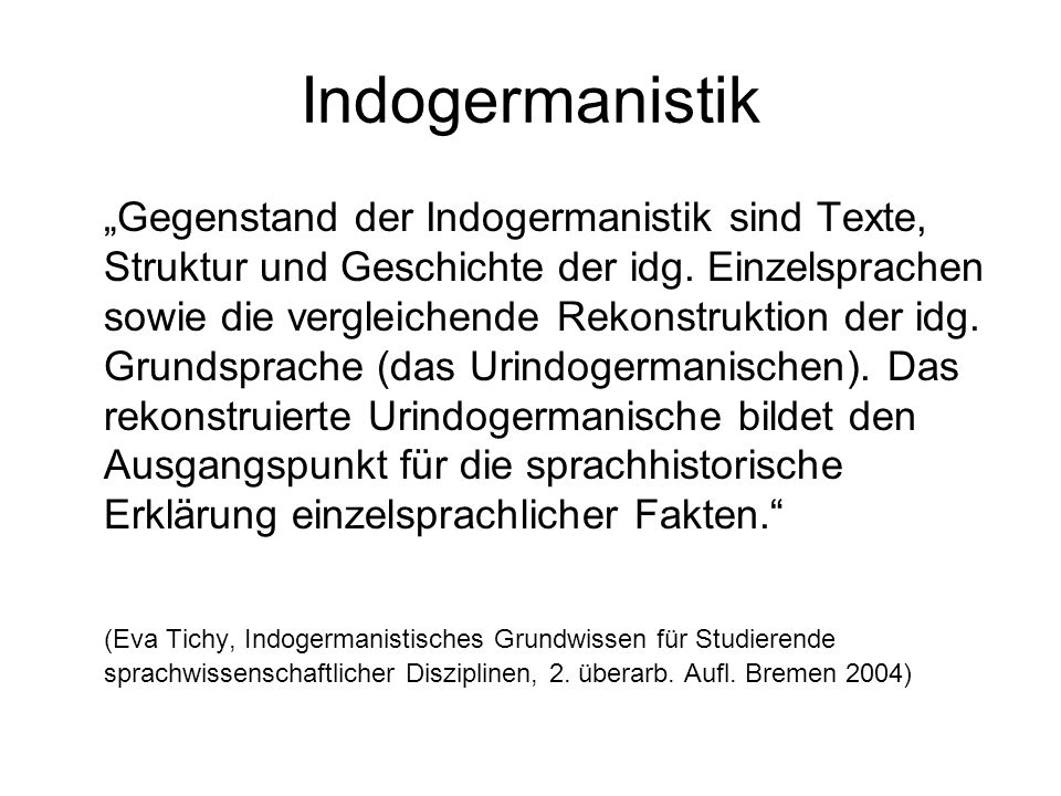 Indogermanistik