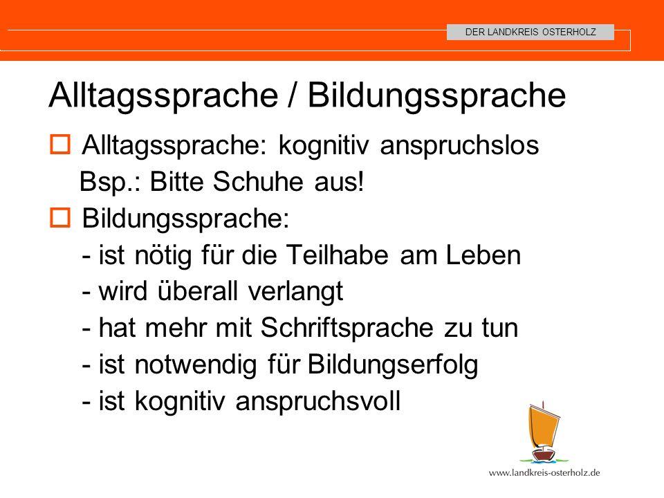 Alltagssprache / Bildungssprache