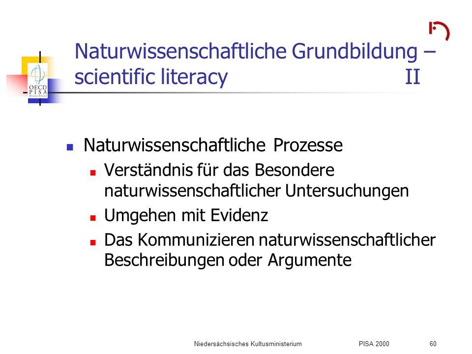Naturwissenschaftliche Grundbildung – scientific literacy II
