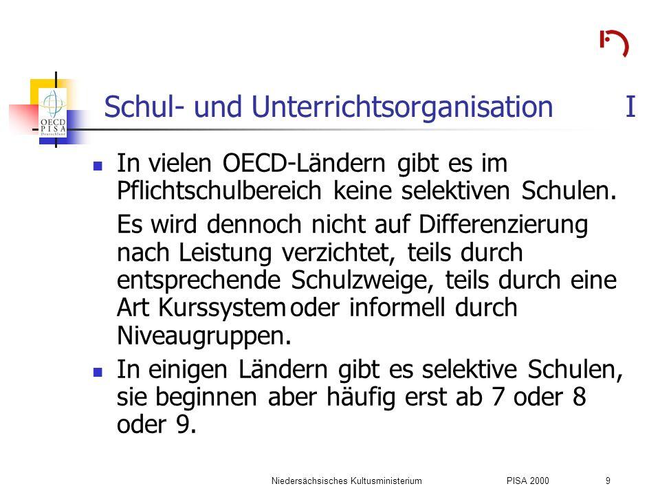 Schul- und Unterrichtsorganisation I