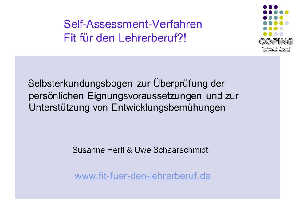 Self-Assessment-Verfahren Fit für den Lehrerberuf !